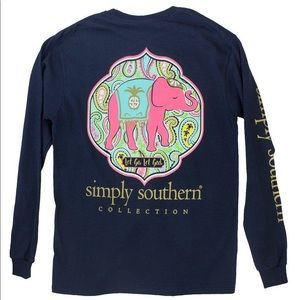 Simply Southern Graphic Elephant Long Sleeve Shirt